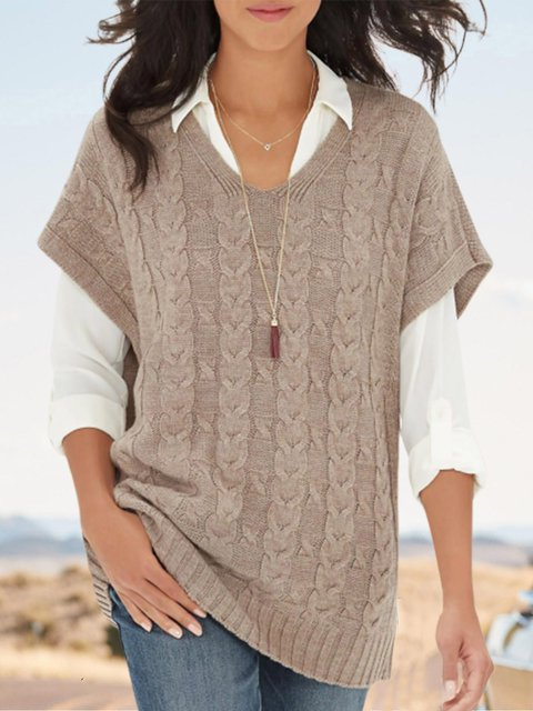 Casual Knitted Fall Shift Sweater