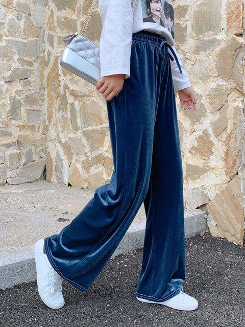 Velvet Casual Pants