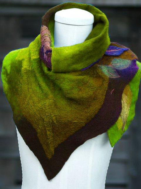 Multicolor Leaf Printed Women Scarves