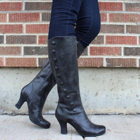 Block Heel Casual Boots