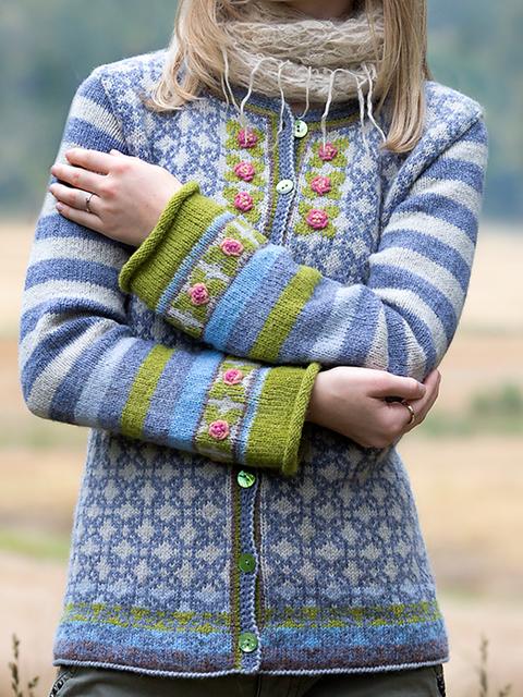 Blue Long Sleeve Round Neck Sweater