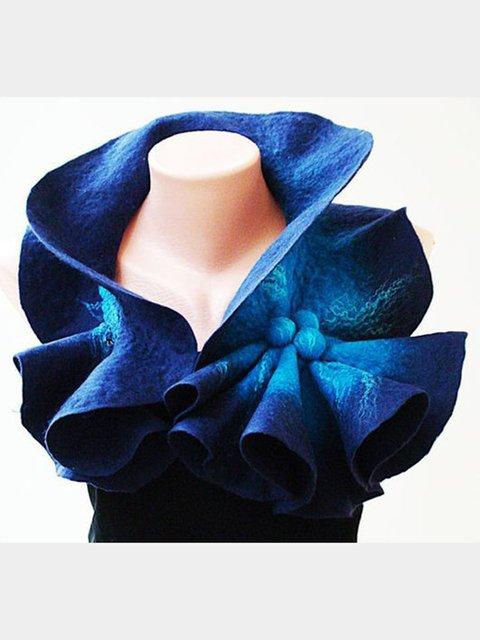 Vintage Cotton-Blend Ombre/tie-Dye Scarves