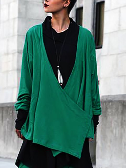 Shift Long Sleeve Cotton-Blend Outerwear