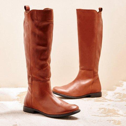 Women Winter Slip-On Zipper Knee-High Boots