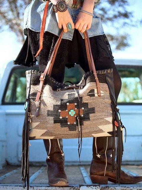 Cotton-Blend Shoulder Bags
