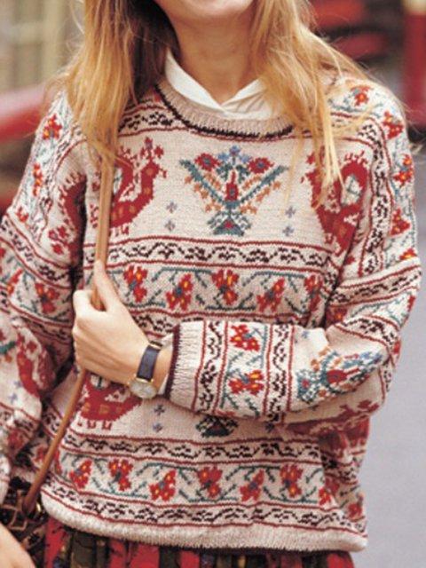 Khaki Paneled Casual Sweater