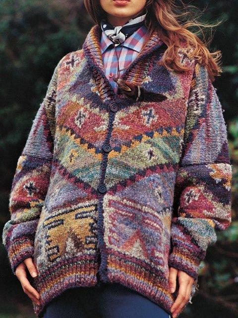 Rust Cotton-Blend Vintage Outerwear
