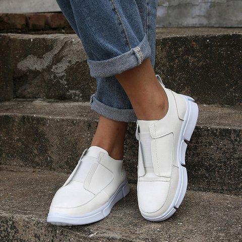 Womens Wedge Slip-On Pu All Season Casual Sneakers