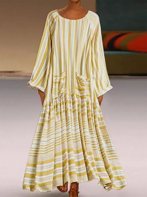 Women Printed Striped Shift Holiday Dresses