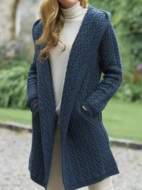 Buttoned Long Sleeve Outerwear