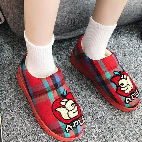 Women Warm Platform Winter Cartoon Slip-On Snow Boots Plus Size Shoes
