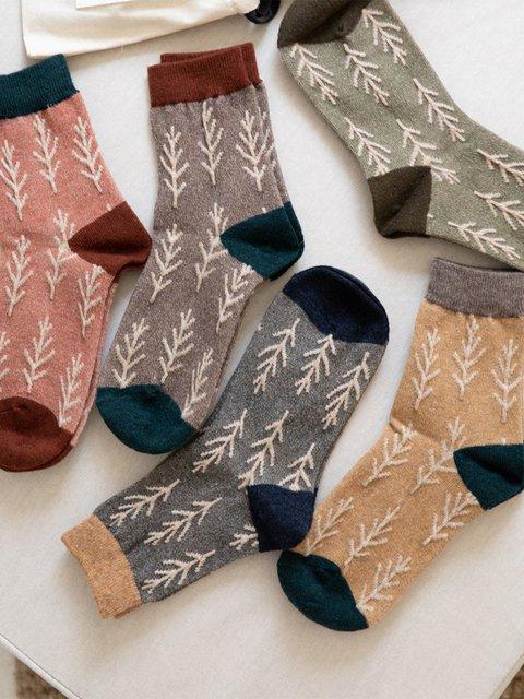 New Christmas Tree Patterned All Season Socks