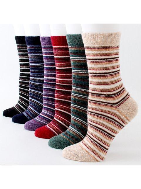 Fashion Stripes Patterned All Season Socks