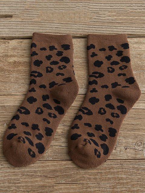 Leopard Printed All Season Socks