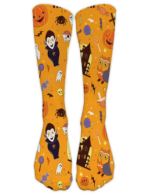 Halloween Polyester Casual Fashion Socks