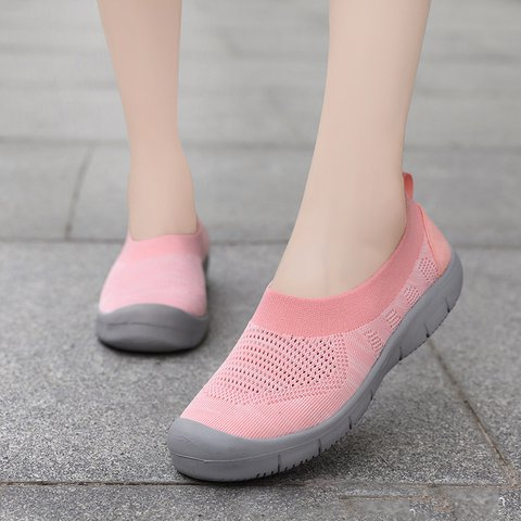 Flat Heel Mesh Comfortable Sneakers Womens Plus Size Shoes