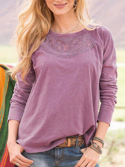 Embroidery Boho Long Sleeve Shirts & Tops