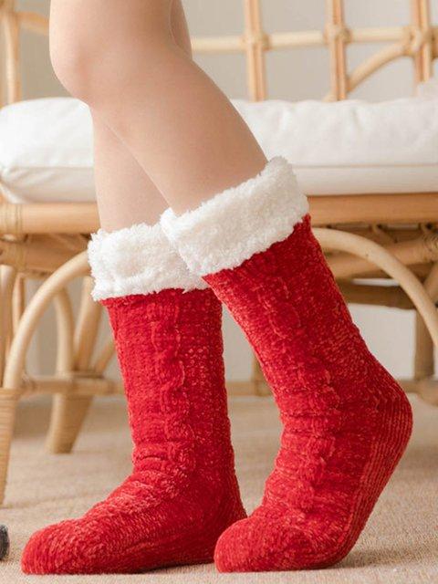 Plain Warm-keeping Socks