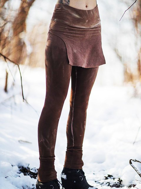 Color-Block Casual Sheath Pants