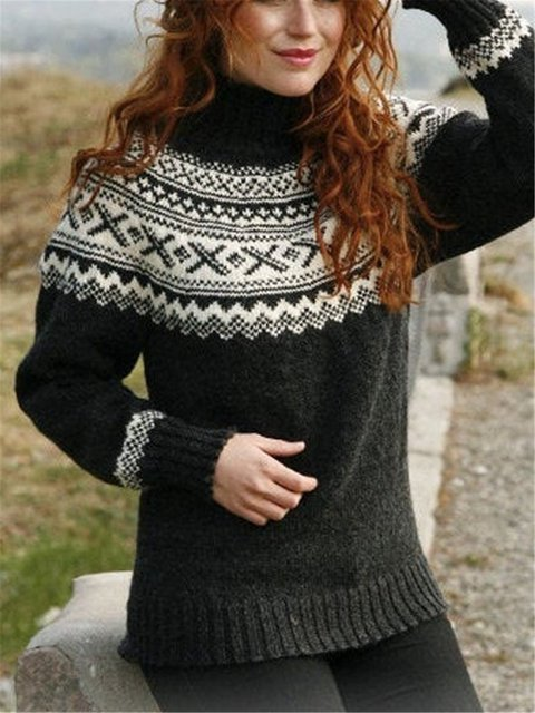 Turtleneck Vintage Sweater