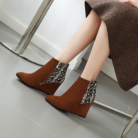 Women Faux Suede Winter Split Joint Boots