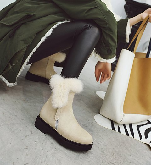 Women Daily Winter Zipper Boots
