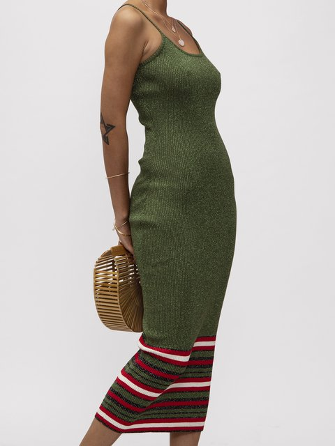 Green Knitted Dresses