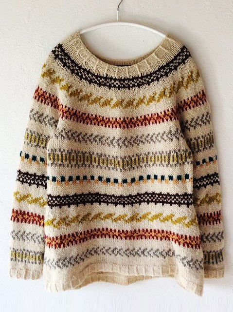 Knitted Crew Neck Basic Shirts & Tops