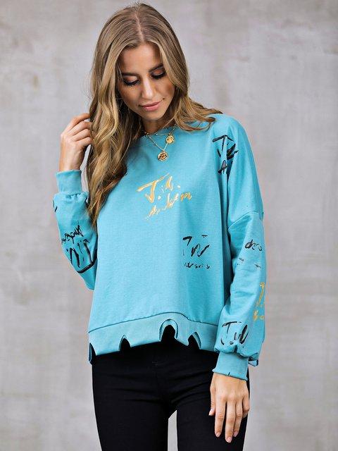 Abstract Shift Long Sleeve Sweatshirt