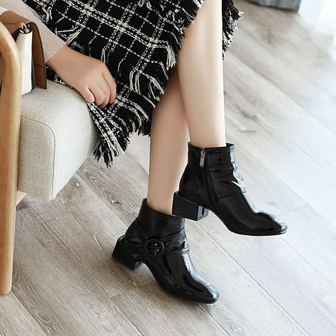 Women Daily Square Heel Bowknot Boots