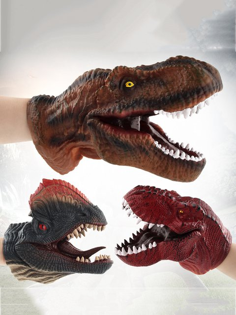 Children Cosplay Jurassic Dinosaur Cosplay Gloves Hand Puppet Toys