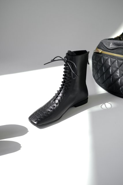 Fall Lace-Up Genuine Leather Daily Boots
