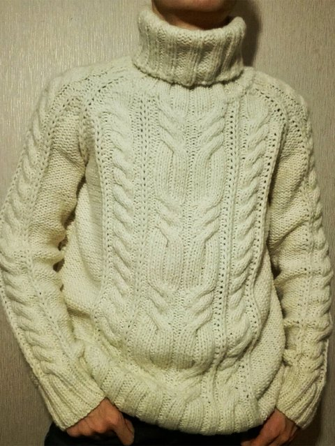 Long Sleeve Shift Turtleneck Knitted Sweater