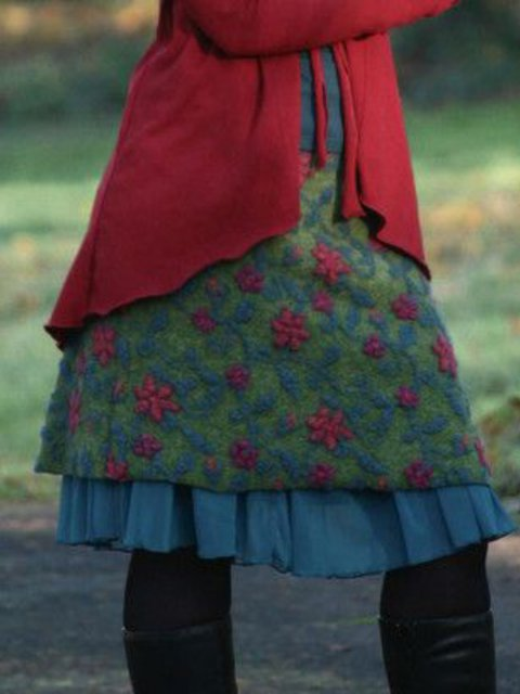Casual Floral-Print Floral Skirts