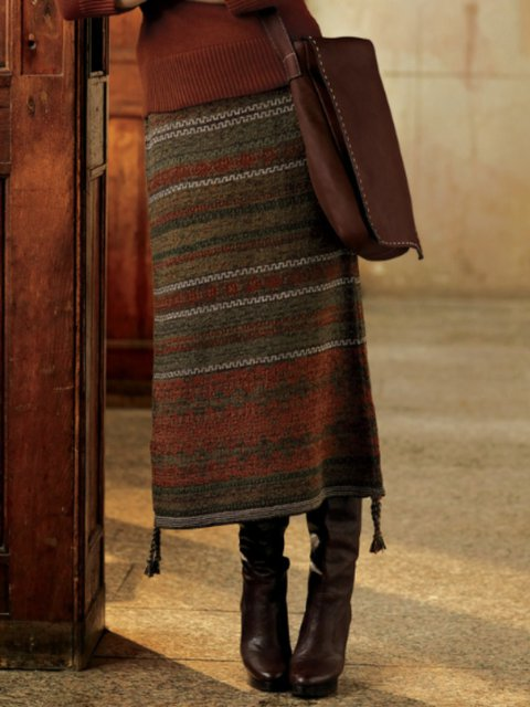 Casual Tribal Vintage Skirts