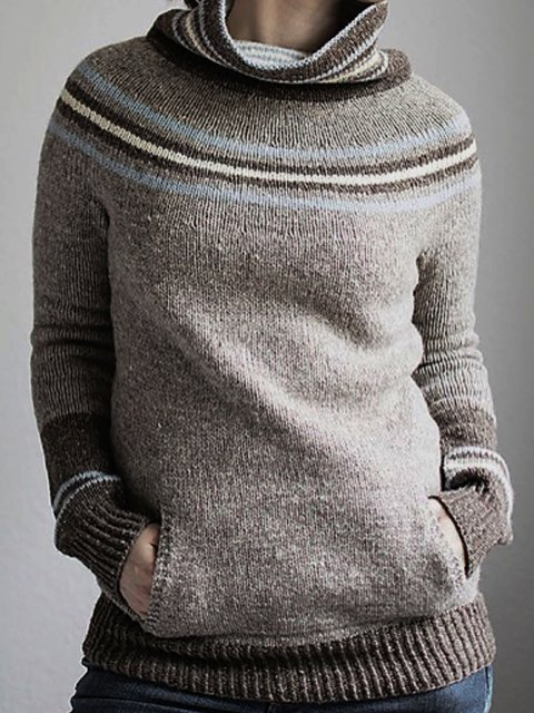 Turtleneck Holiday Knitted Sweater