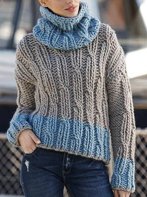 Knitted Vintage Turtleneck Sweater