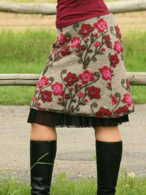 Casual Floral Skirts