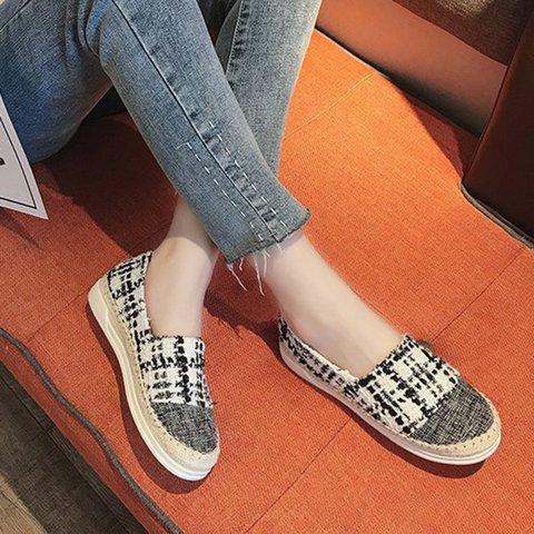 Women Side Round Toe Flat Heel Flats