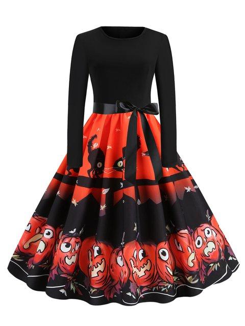 Crew Neck Women Dresses A-Line Party Animal Halloween Dresses