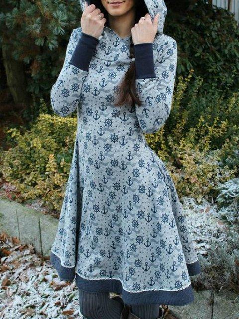 Plus Size Cotton-Blend Casual Dresses