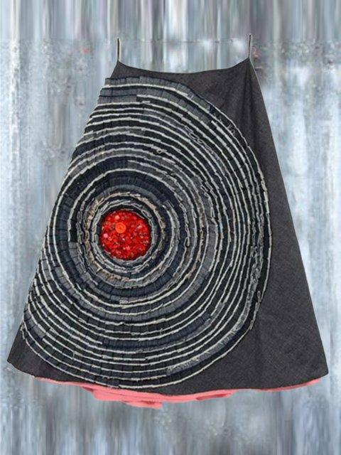 Geometric A-Line Vintage Skirts