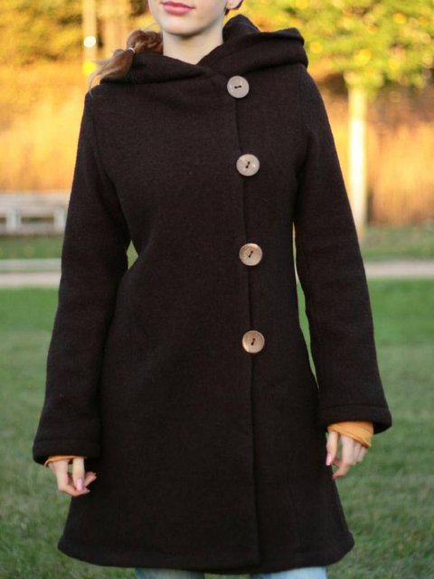 Long Sleeve Pockets Casual Outerwear