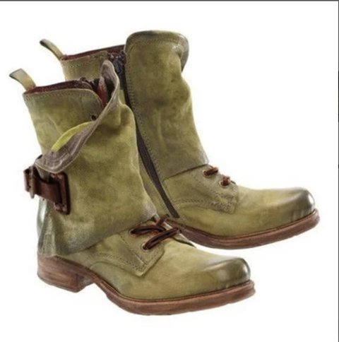 Pu Low Heel Outdoor Boots