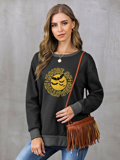 Casual Shift Long Sleeve Sweatshirt