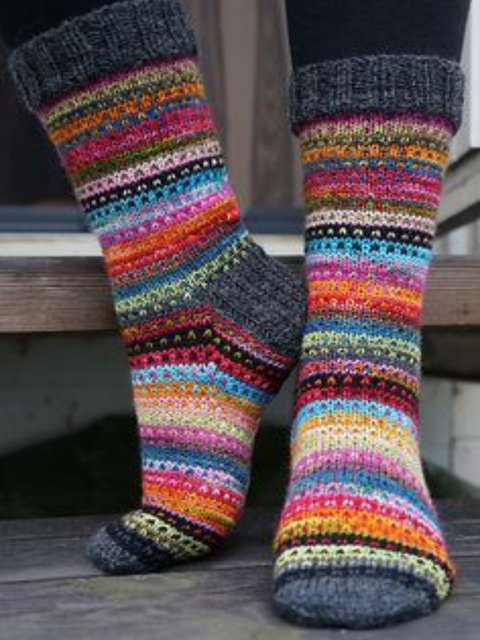 Red Knitted Underwear & Socks