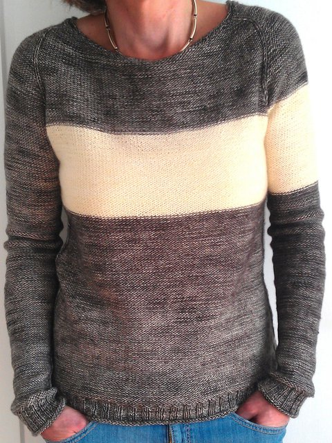 Color Block Sweater Plus Size Crew Neck Solid Knit Tops