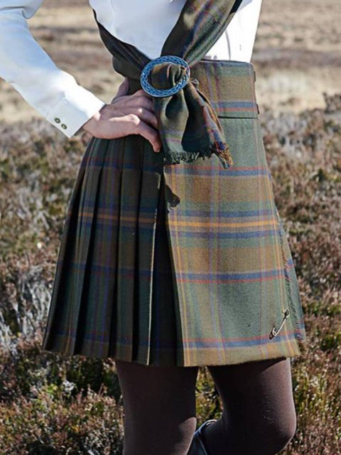 Multicolor Casual Plaid Skirts