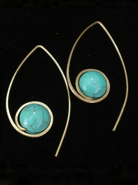 Wire Wrapped Turquoise Earring bride wedding boutique jewelry