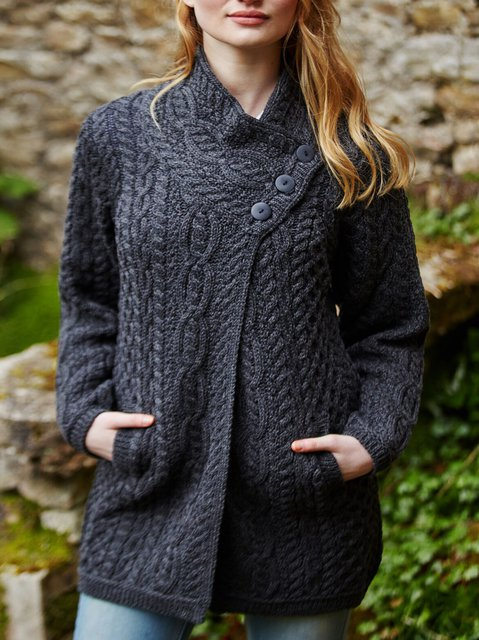 Long Sleeve Vintage Knitted Outerwear